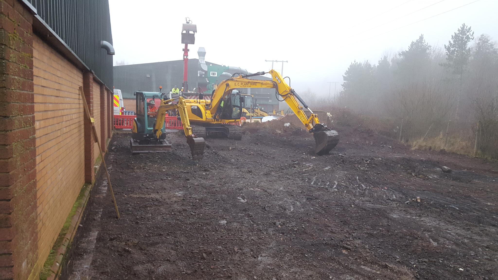 Yard expansion at WTP